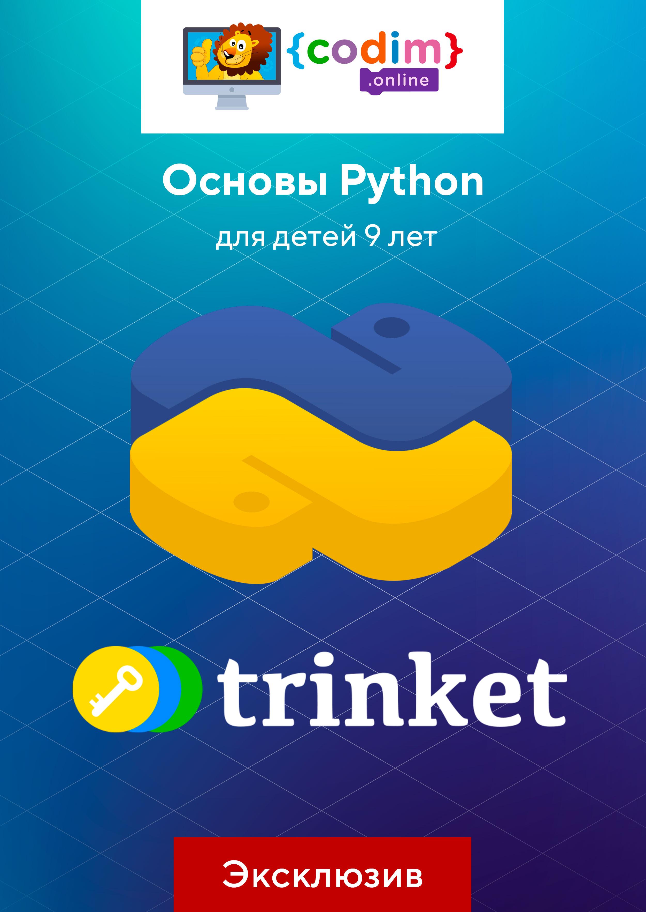 Основы Python для детей 9 лет